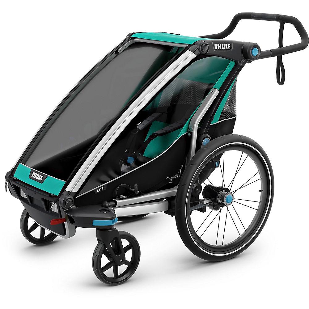Thule Chariot Lite 1 Kinderanhänger - Bluegrass - Black für Kinder, Link führt zur Produktseite bei Chain Reaction Cycles