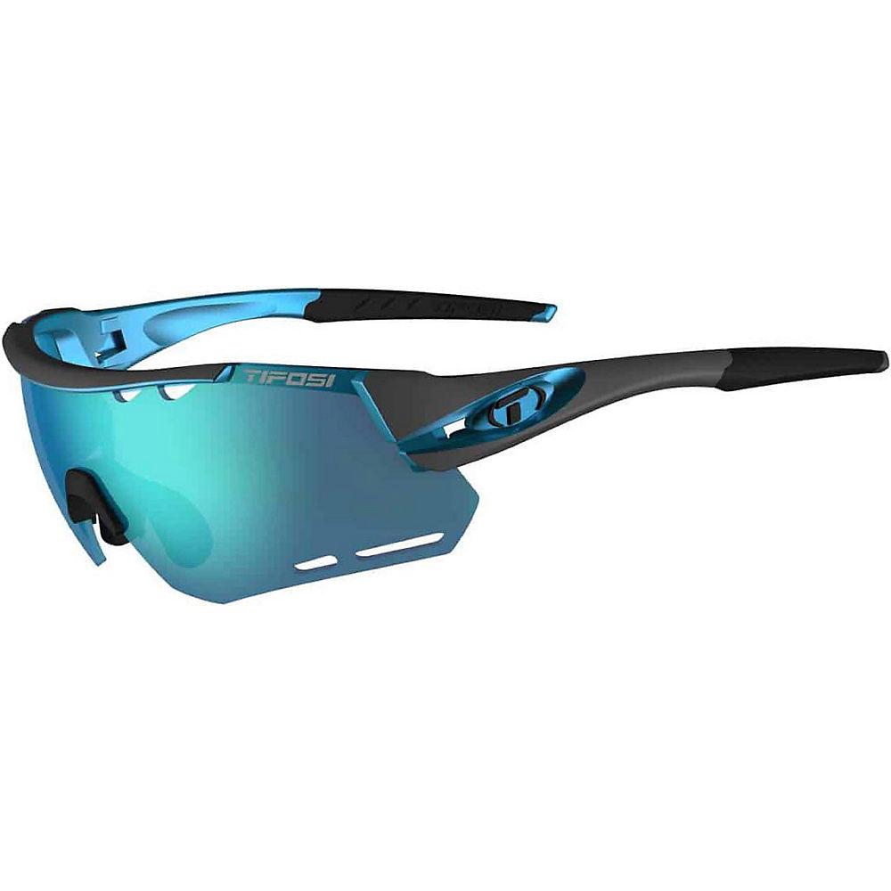 Image of Lunettes de soleil Tifosi Eyewear Alliant (verre interchangeable) 2018 - Gunmetal-Blue Clario, Gunmetal-Blue Clario