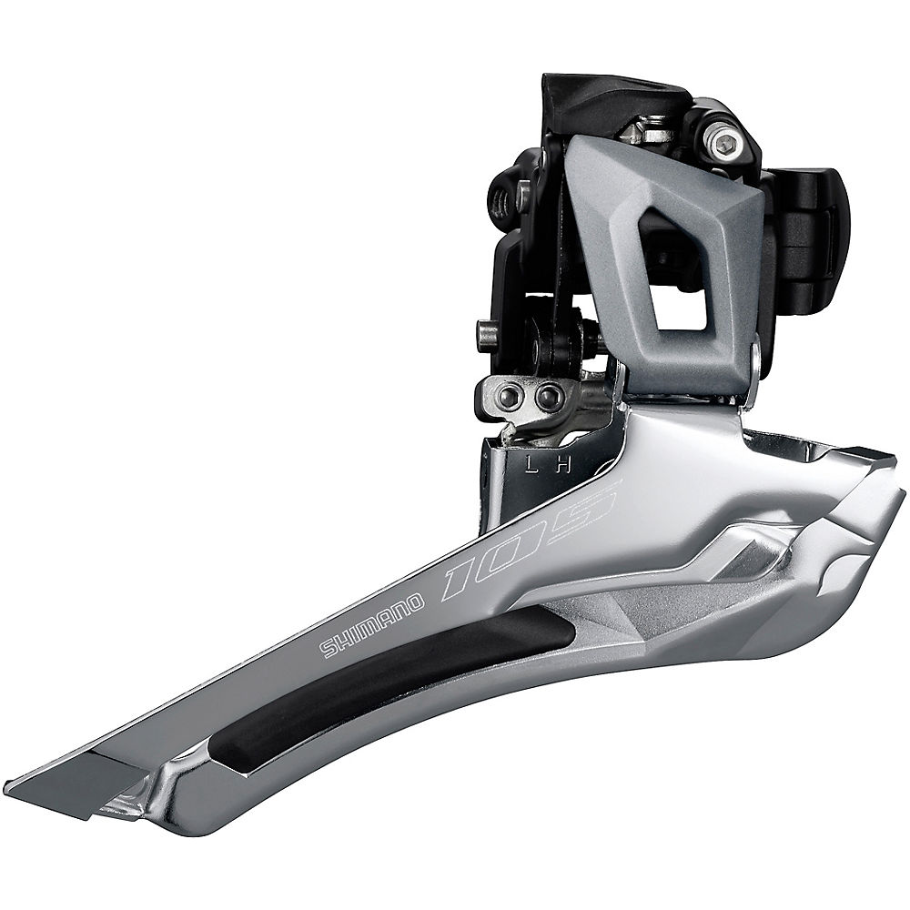 Shimano 105 R7000 11 Speed Road Front Derailleur - Silver - 28.6mm/31.8mm, Silver
