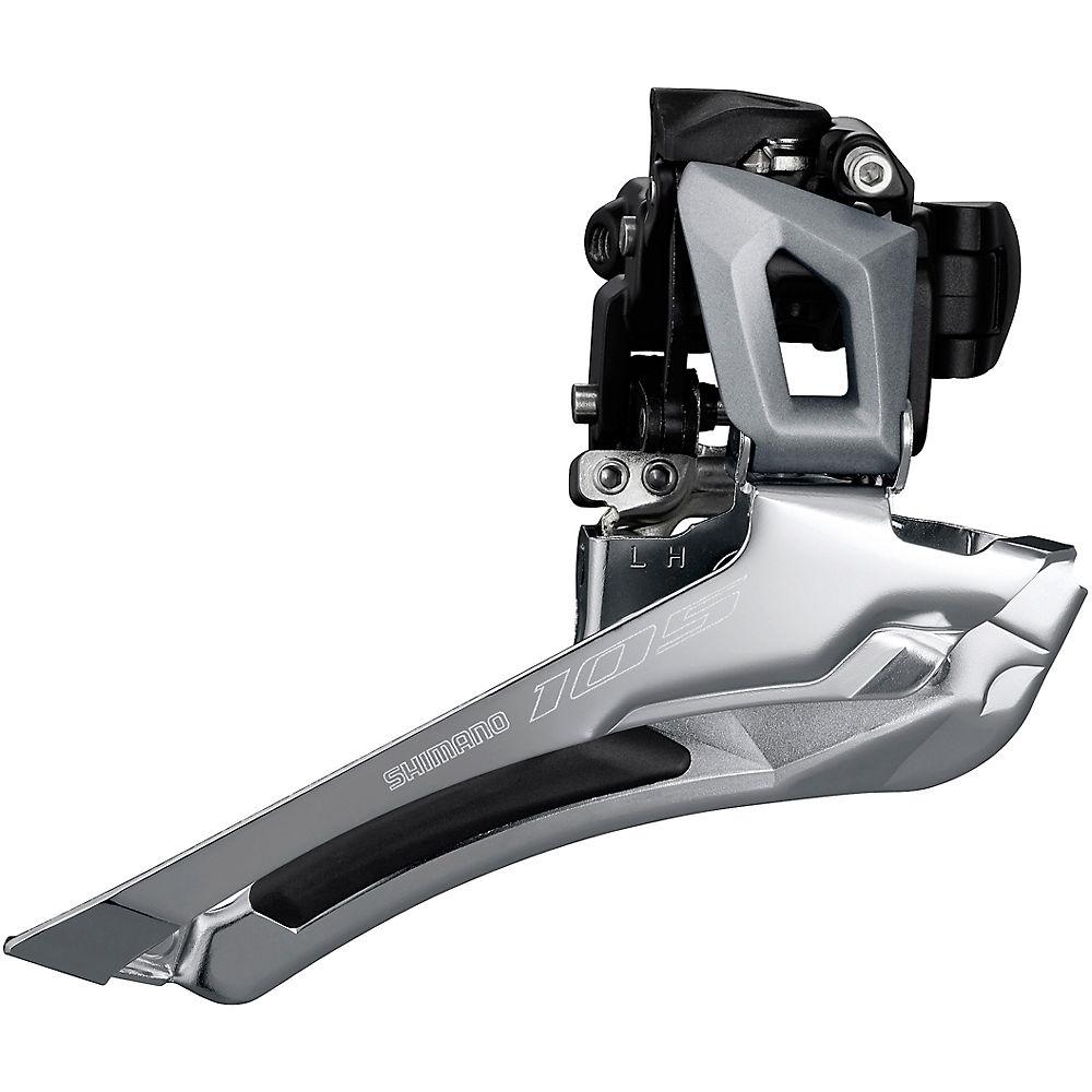 Shimano 105 R7000 11 Speed Road Front Derailleur - Silver - 28.6mm/31.8mm  Silver