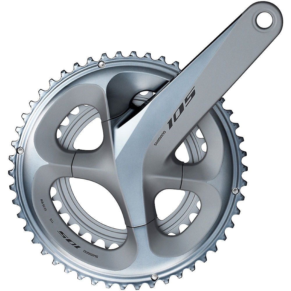 Shimano 105 R7000 11sp Compact Double Chainset - Silver - 110mm, Silver