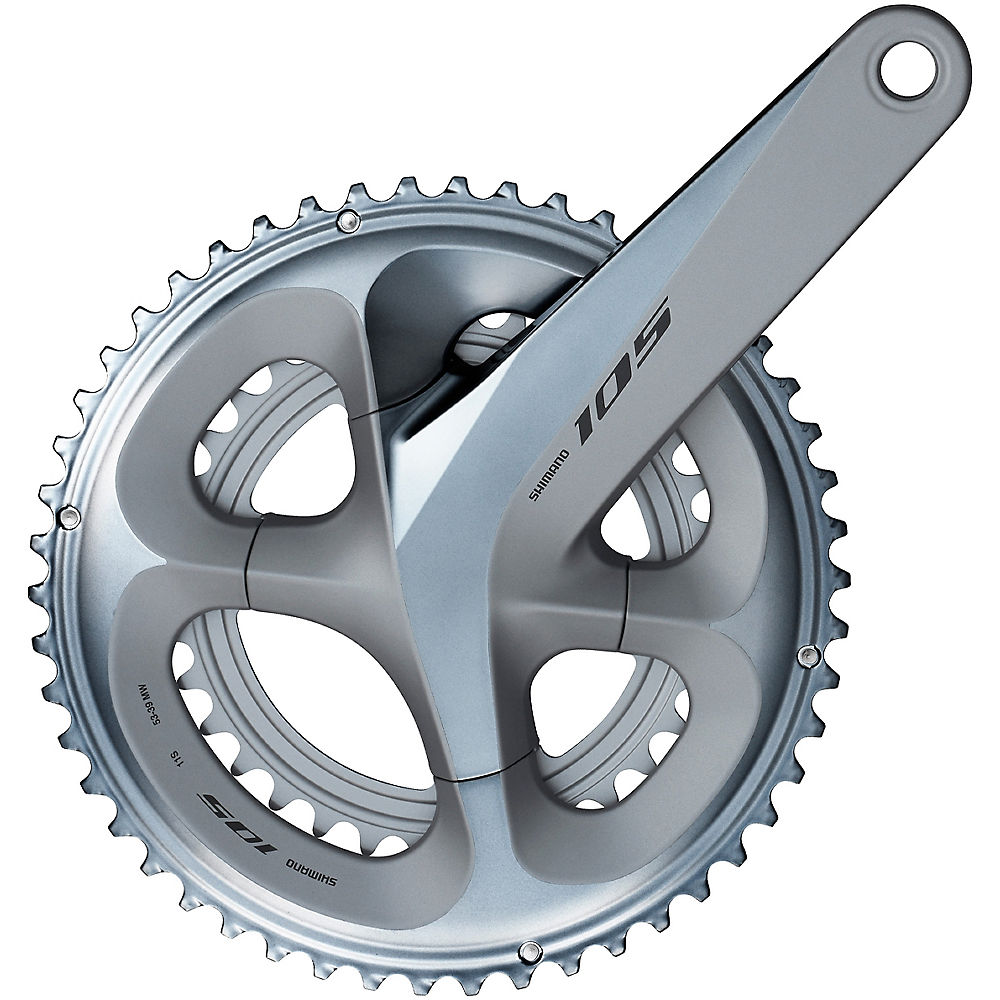 Shimano 105 R7000 11 Speed Road Double Chainset - Silver - 110mm, Silver