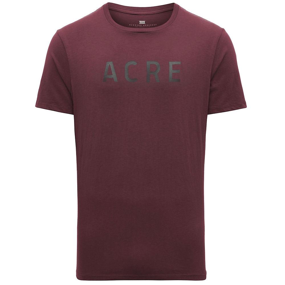 Acre Supply Miror Tee - Burgundy, Burgundy