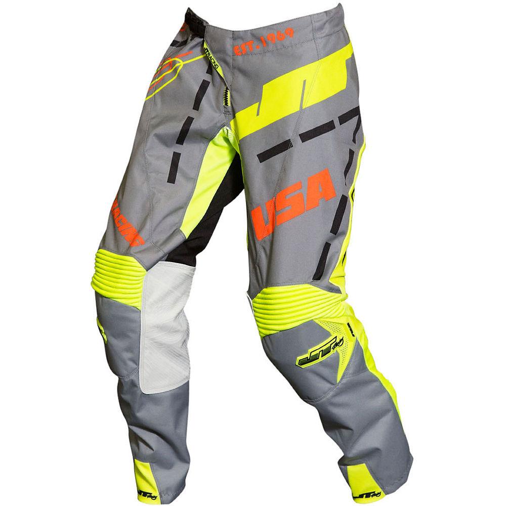 Image of Pantalon JT Racing Hyperlite Blueprint 2019 - Black-Grey-Neon Yellow - 30, Black-Grey-Neon Yellow
