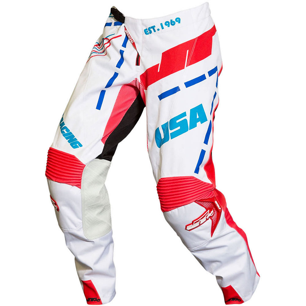 Image of Pantalon JT Racing Hyperlite Blueprint 2019 - Bleu/Blanc/Rouge - 28, Bleu/Blanc/Rouge
