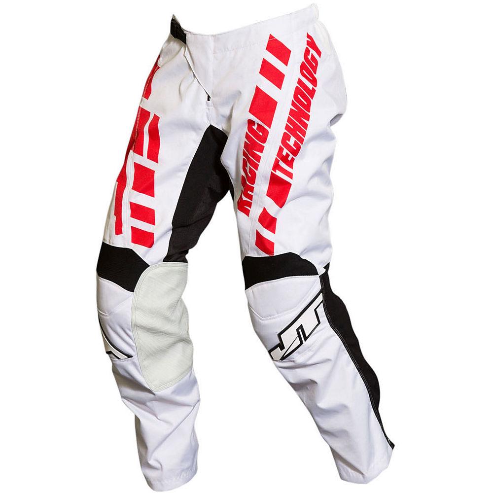 Image of Pantalon JT Racing Flo Tec Megabyte 2019 - Blanc/Noir/Rouge - 32, Blanc/Noir/Rouge