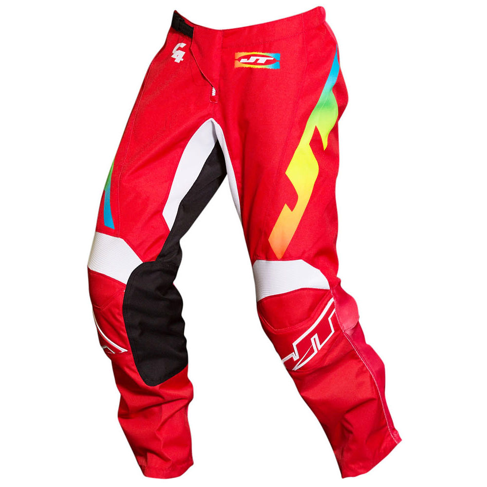 Image of Pantalon JT Racing C4 Rasta 2019 - Red Multi - 30, Red Multi