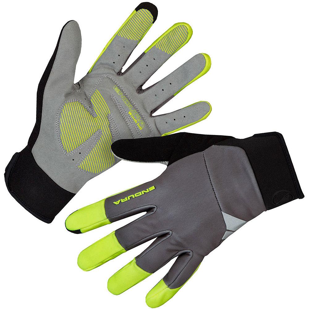 Image of Endura Windchill Gloves - Hi Vis Yellow / Medium