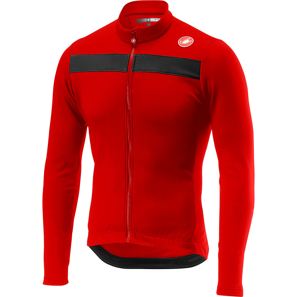 Castelli Puro 3 Long Sleeve Jersey - Red  Red