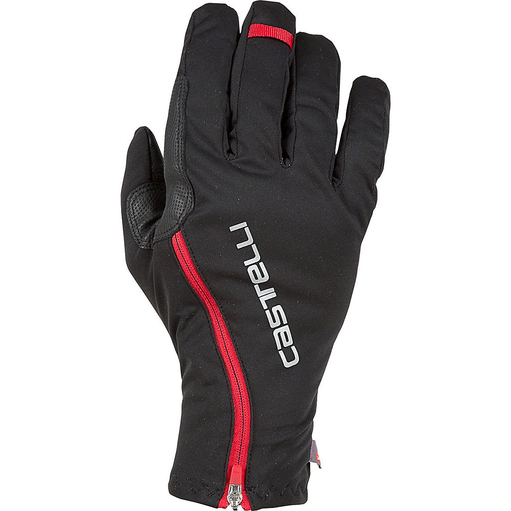 Castelli Spettacolo ROS Gloves  - Negro/Rojo - XS, Negro/Rojo