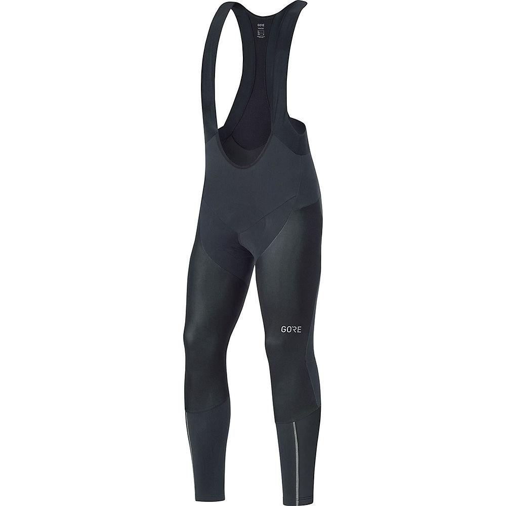 Gore Wear C7 Partial Windstopper Pro Bib Tights+ - Black, Black