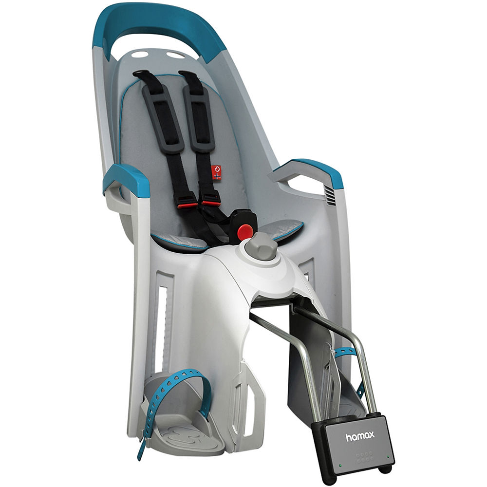 Hamax Amaze Rear Mount Child Seat – Light Grey – Petrol, Light Grey – Petrol