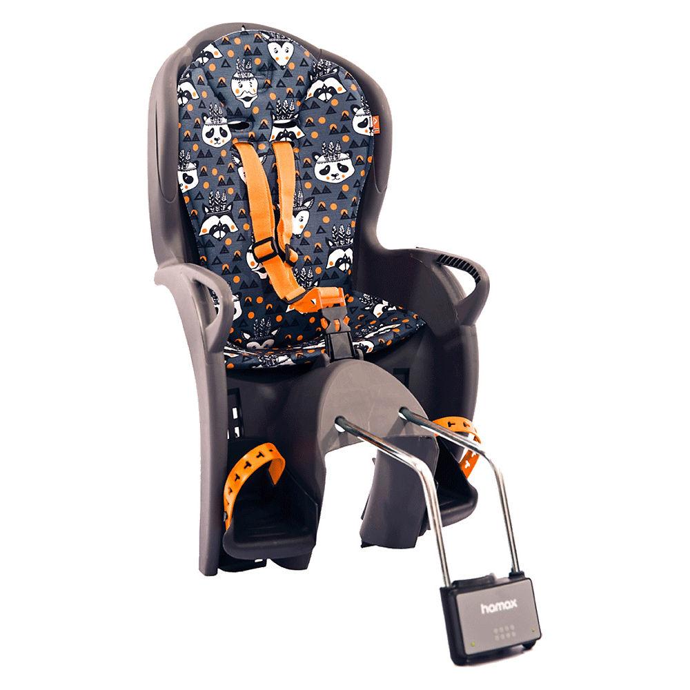 Image of Hamax Kiss Rear Mount Child Seat - Grey - Orange Animal, Grey - Orange Animal