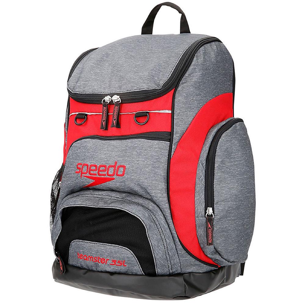 Speedo Teamster Rucksack 35l  - Heather Grey - Red - One Size  Heather Grey - Red