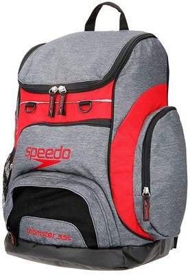 Speedo Teamster Rucksack 35L SS18 - Heather Grey - Red - One Size