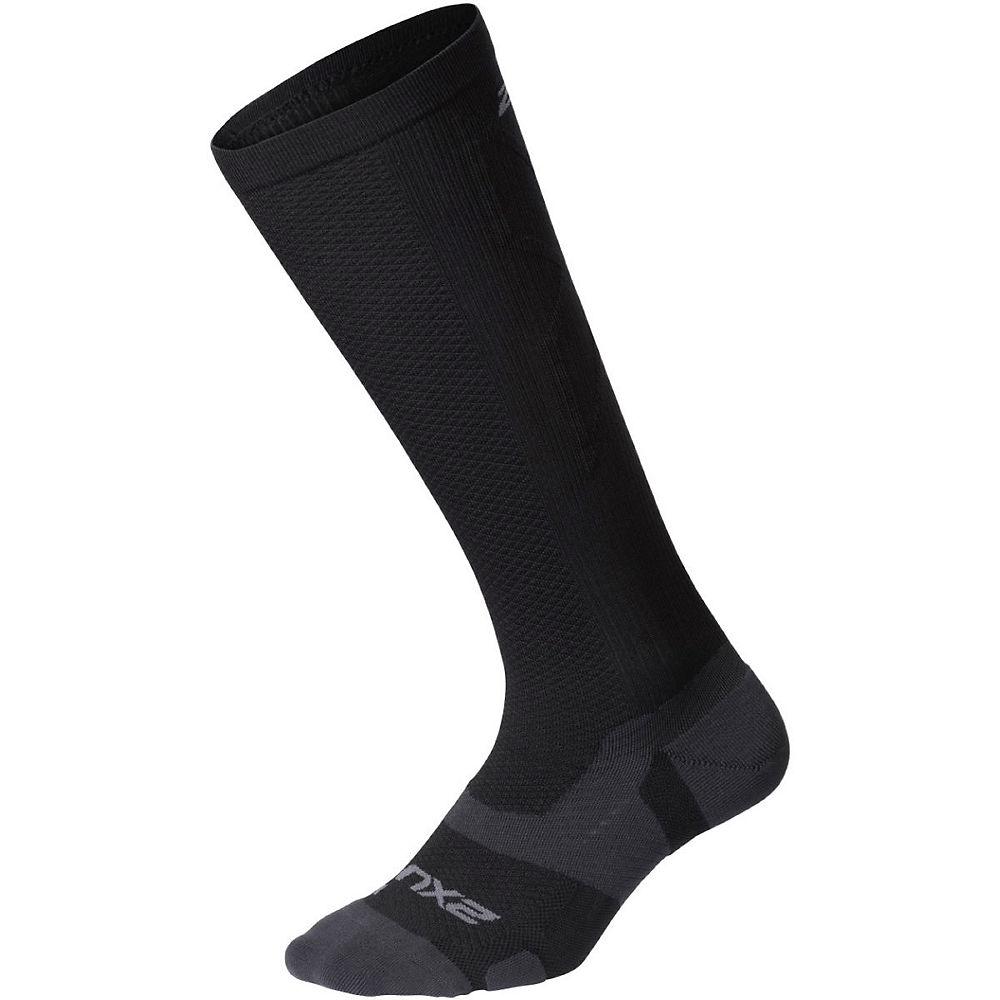 2XU Vectr Light Cushion Compression Socks - Black-Titanium - M - Plus, Black-Titanium