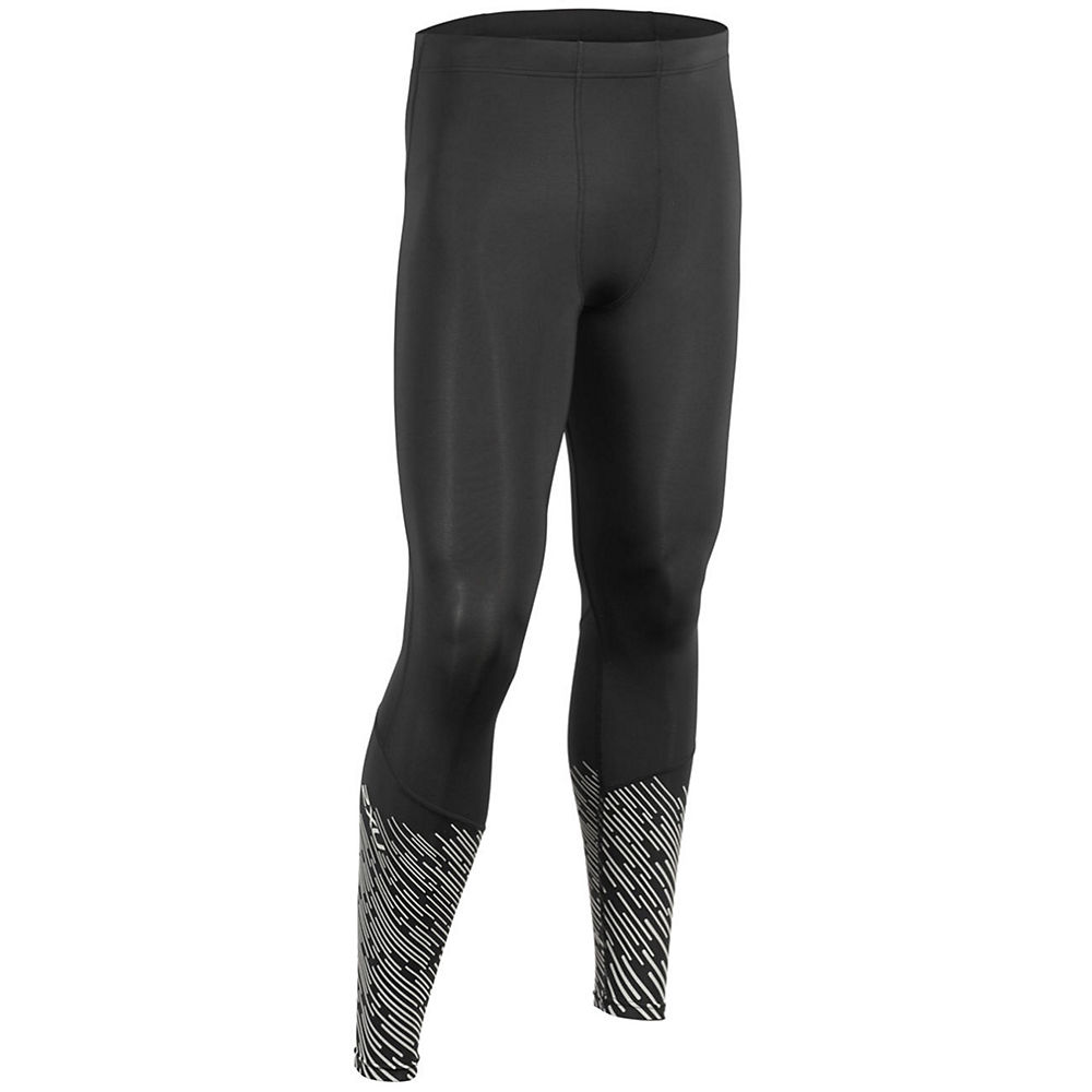 Image of 2XU Reflective Run Compression Tights - Noir argent - XXL, Noir argent