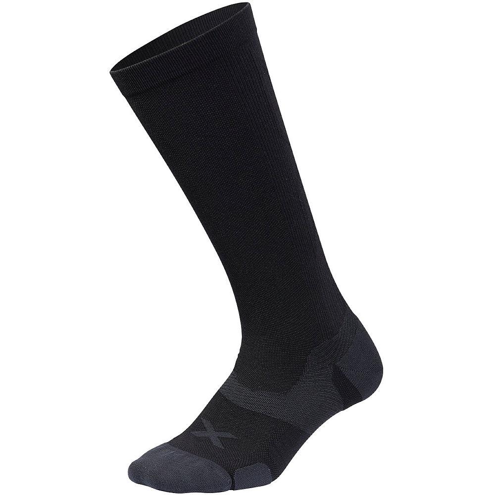 2XU Vectr Cushion FL Compression Socks - Black-Titanium, Black-Titanium