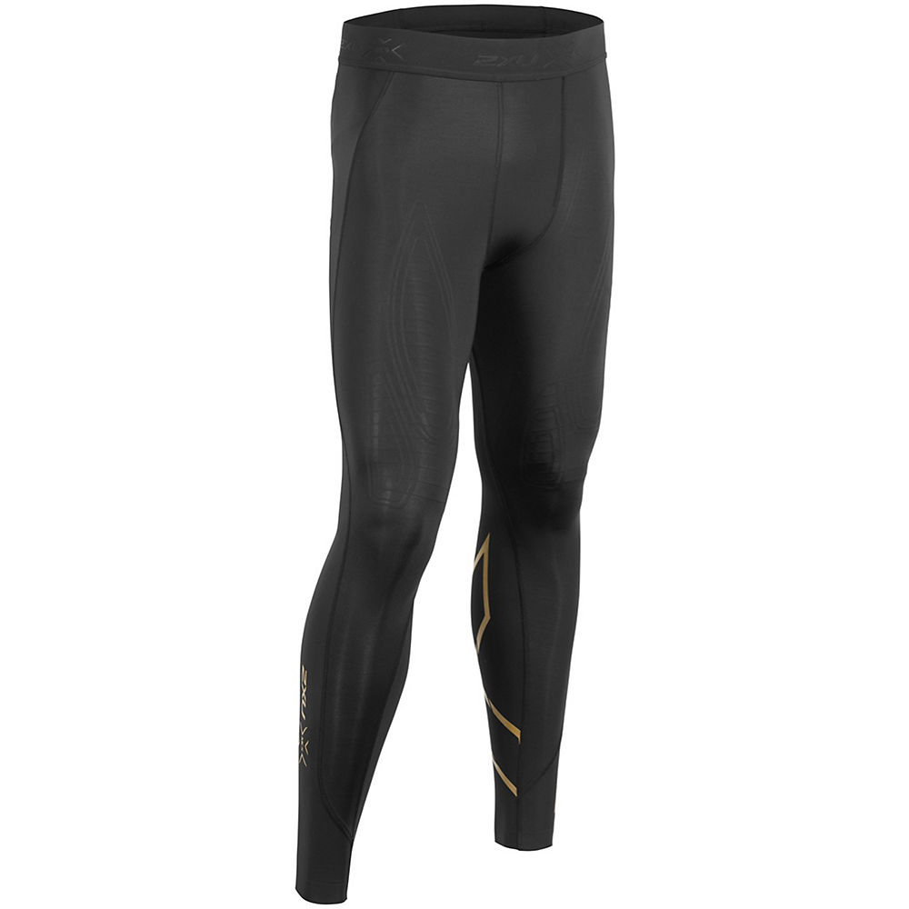 2XU MCS Cross Training Compression Tights - Black-Gold - XXL, Black-Gold
