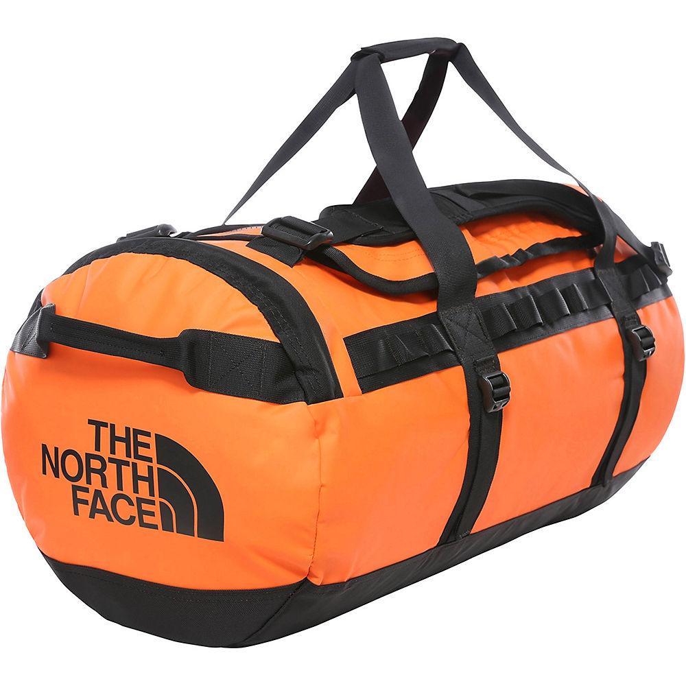 The North Face Base Camp Duffel (Medium) 2018 - Persian Orange-TNF Black - One Size, Persian Orange-TNF Black
