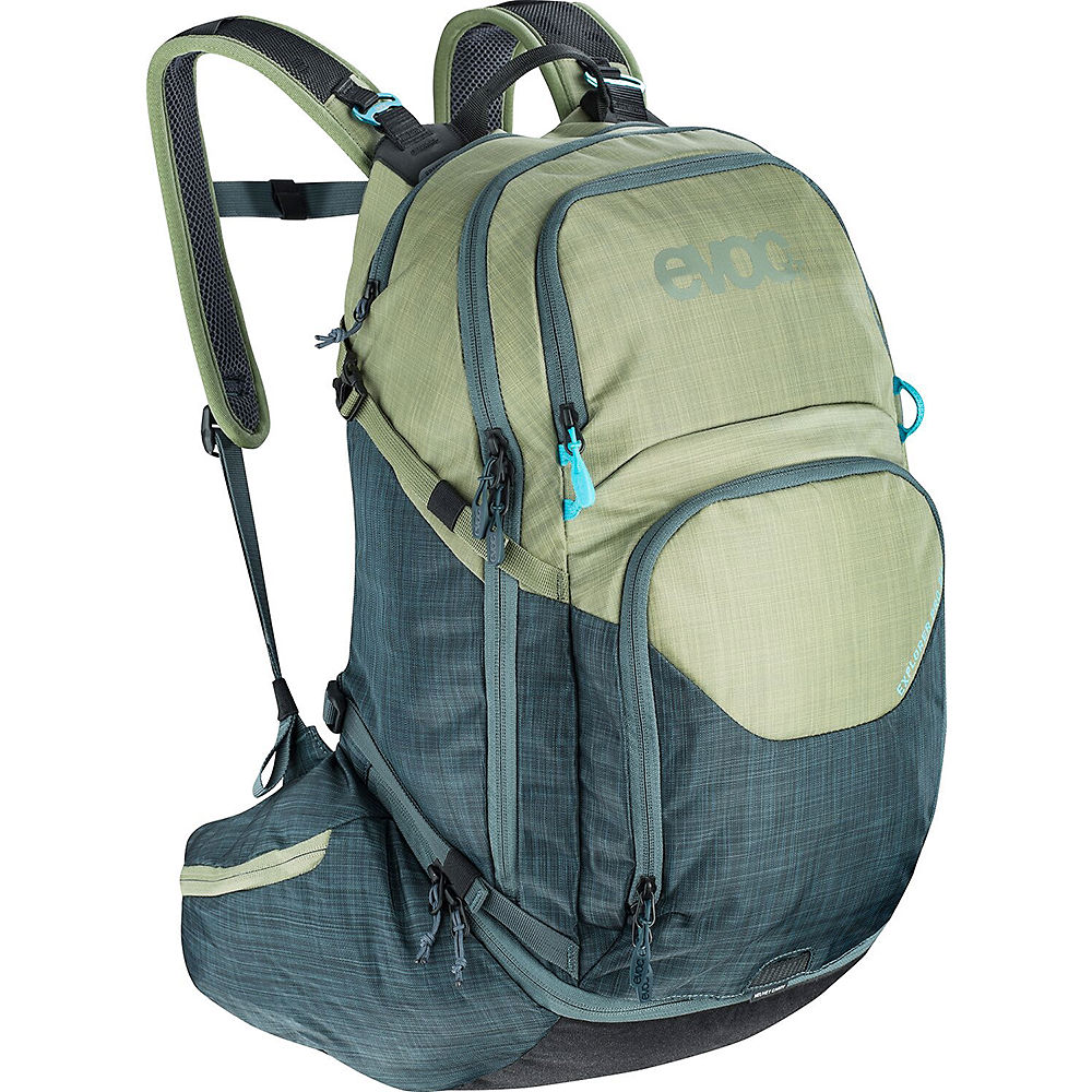 Image of Evoc Explorer Pro Rucksack - Heather Light Olive-Heather Slate - 26L, Heather Light Olive-Heather Slate