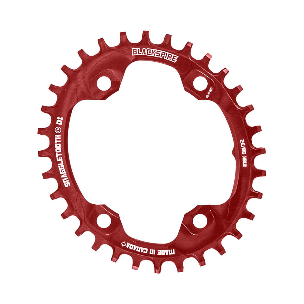 Blackspire Snaggletooth Nw Oval Chainring Xt M8000 - Red - 4-bolt  Red