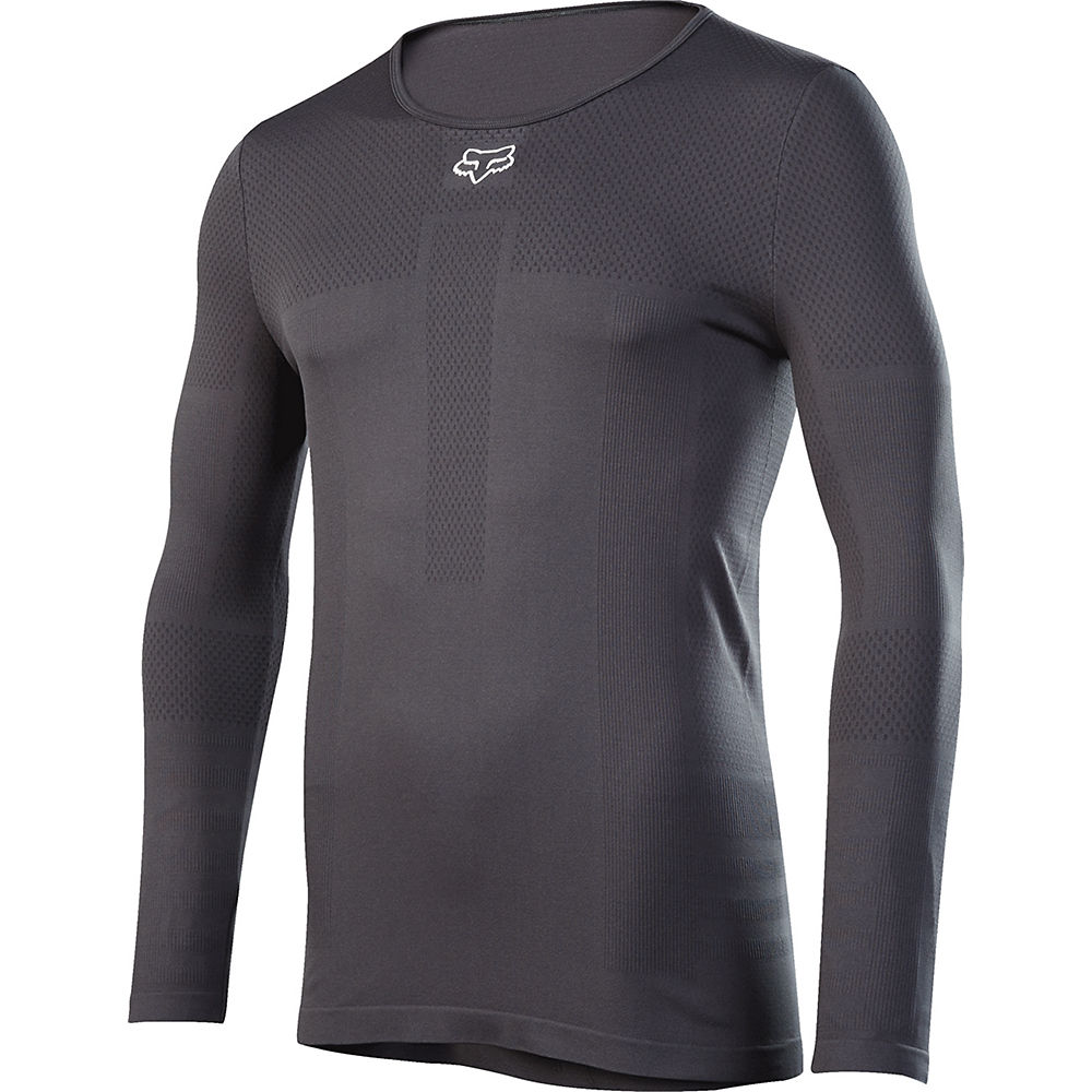 Image of Fox Racing Attack Fire Long Sleeve Baselayer - Black - S/M, Black