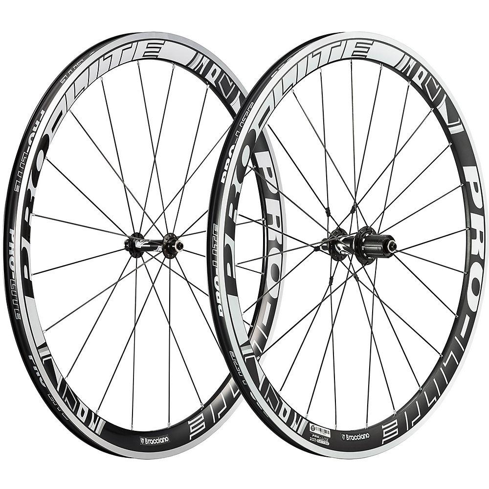 Pro-lite Bracciano A42w Aero Road Wheelset - Black-white - 42mm  Black-white