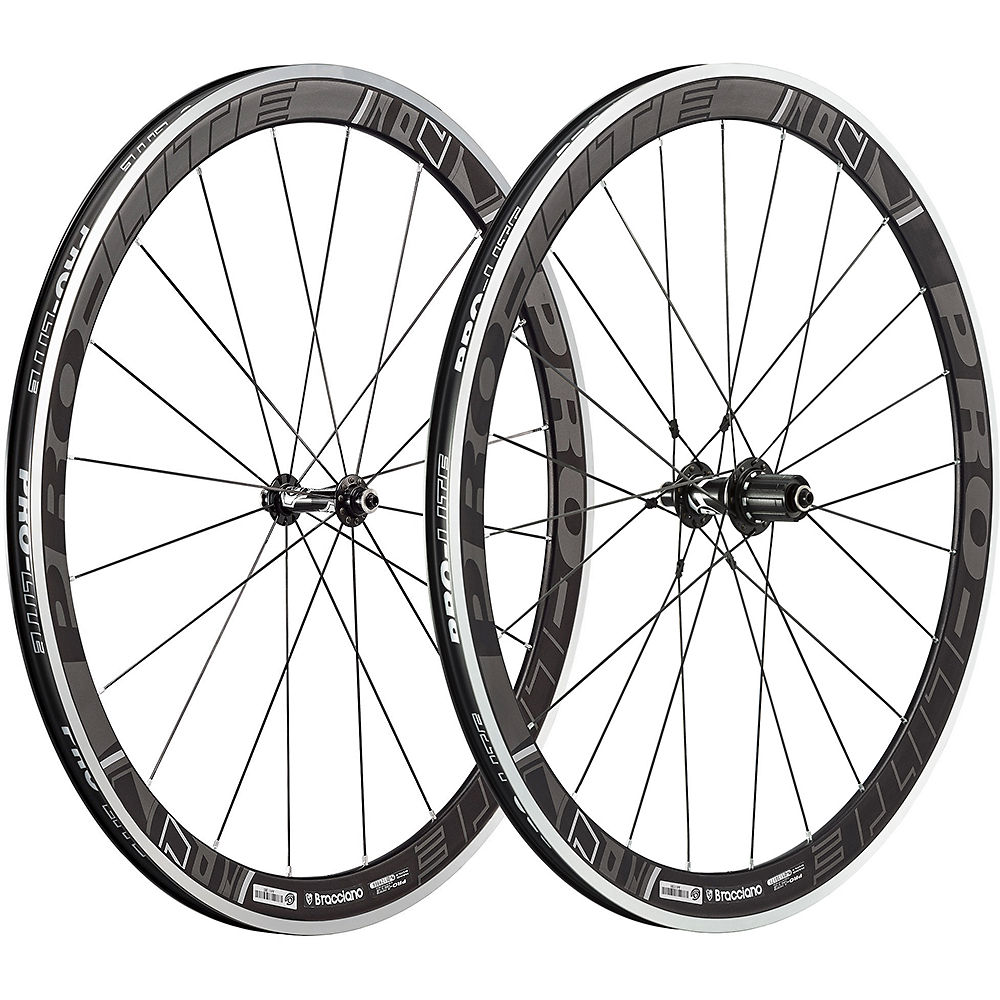 Image of Paire de roues Pro Lite Bracciano A42W Aero (Dark Label) - Noir-Gris - 42mm, Noir-Gris