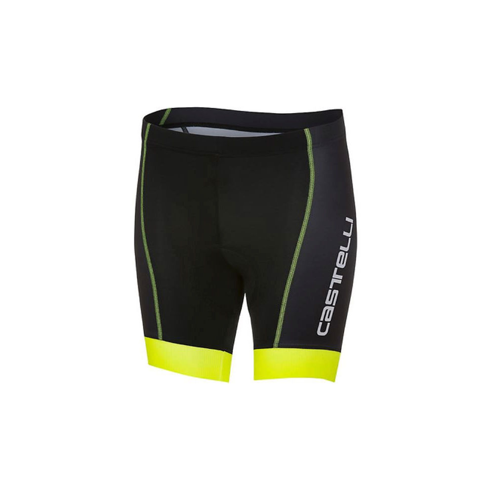 Castelli Kid's Future Racer Shorts - Black-Yellow Fluo - 9-10 years, Black-Yellow Fluo