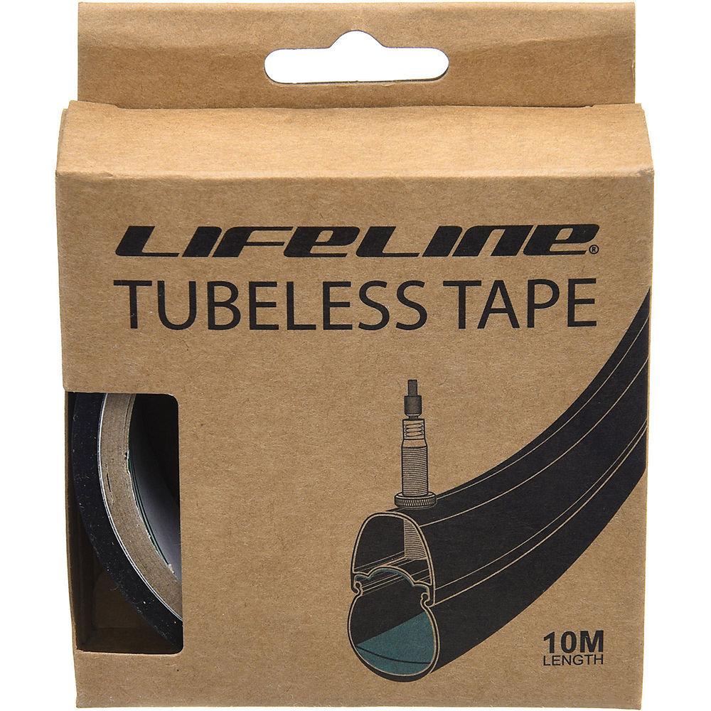 Lifeline Professional Tubeless Rim Tape 10m - Black - 25mm  Black