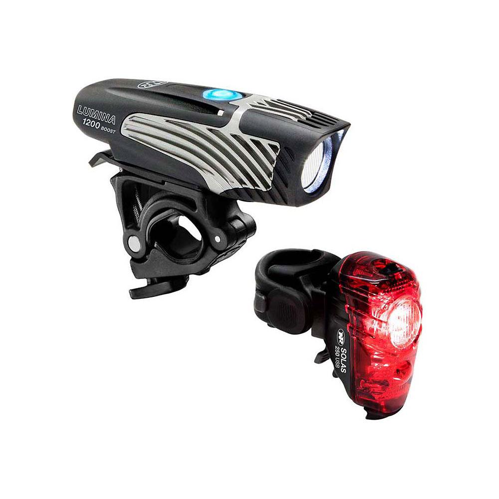 Image of Éclairages Nite Rider Lumina 1200 Boost / Solas 250 (avant et arrière) - Noir, Noir