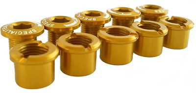 TA Alloy Double Chain Ring Bolts Set of 5 - Gold, Gold | chainring bolt