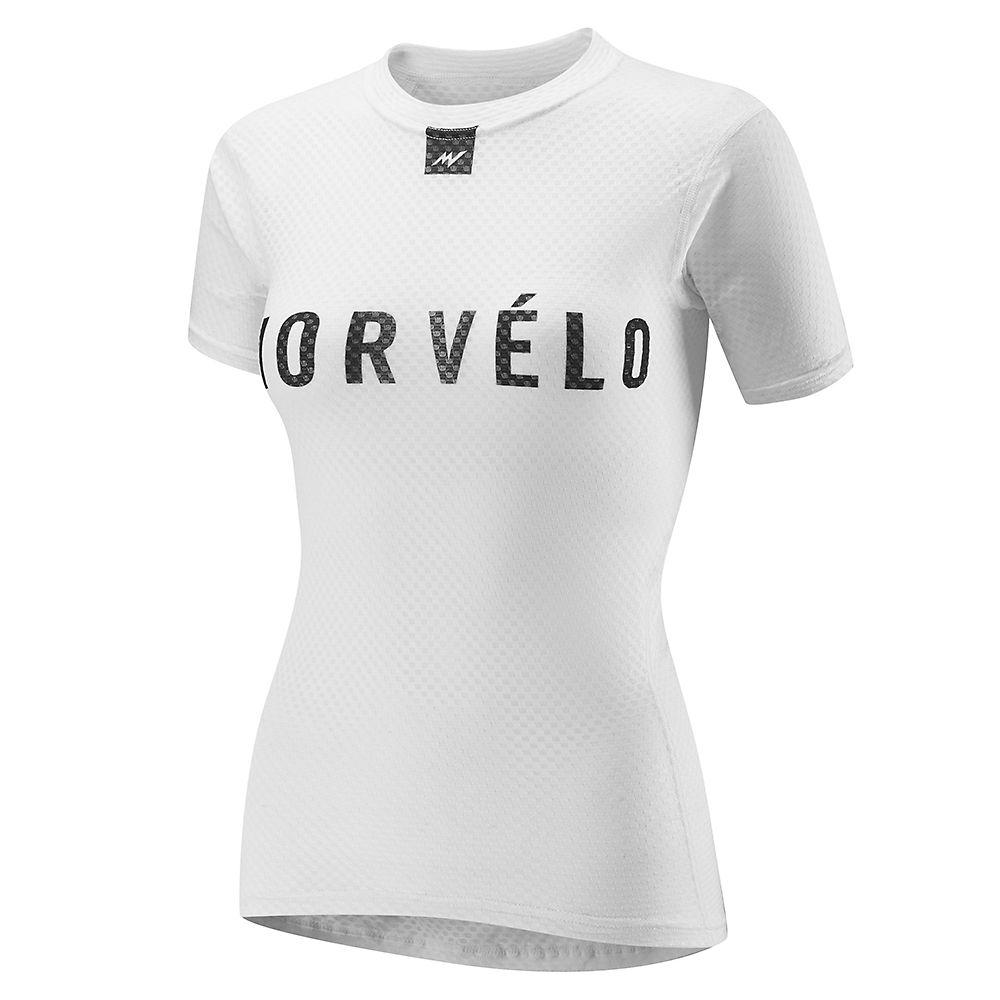 Morvelo Women's Definitive White SS Baselayer  - Blanco-Negro - XXL, Blanco-Negro