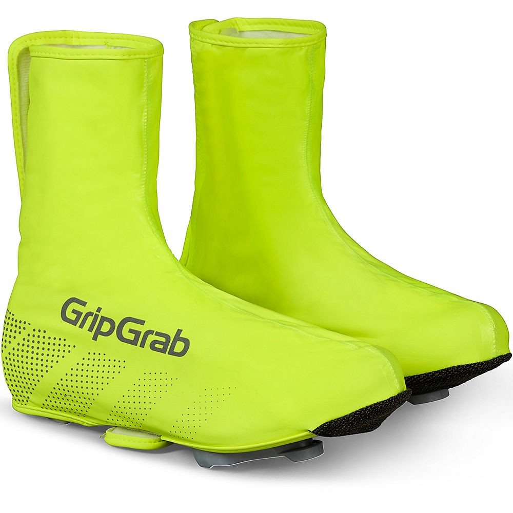 Image of GripGrab Ride Waterproof Hi-Vis Overshoes - Fluo Yellow - M, Fluo Yellow