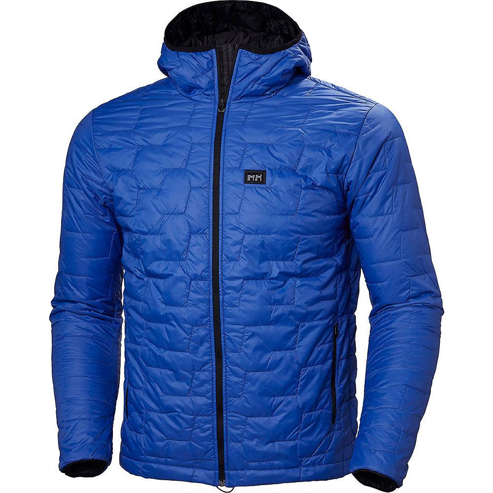 helly hansen lifa loft hood insulator jacket  - m - olympian blue matte