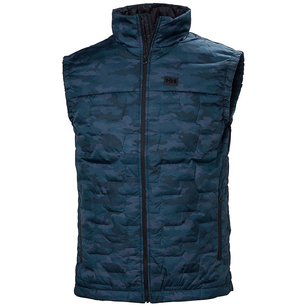 helly hansen lifa loft hybrid insulator jacket  - m - graphite blue camo