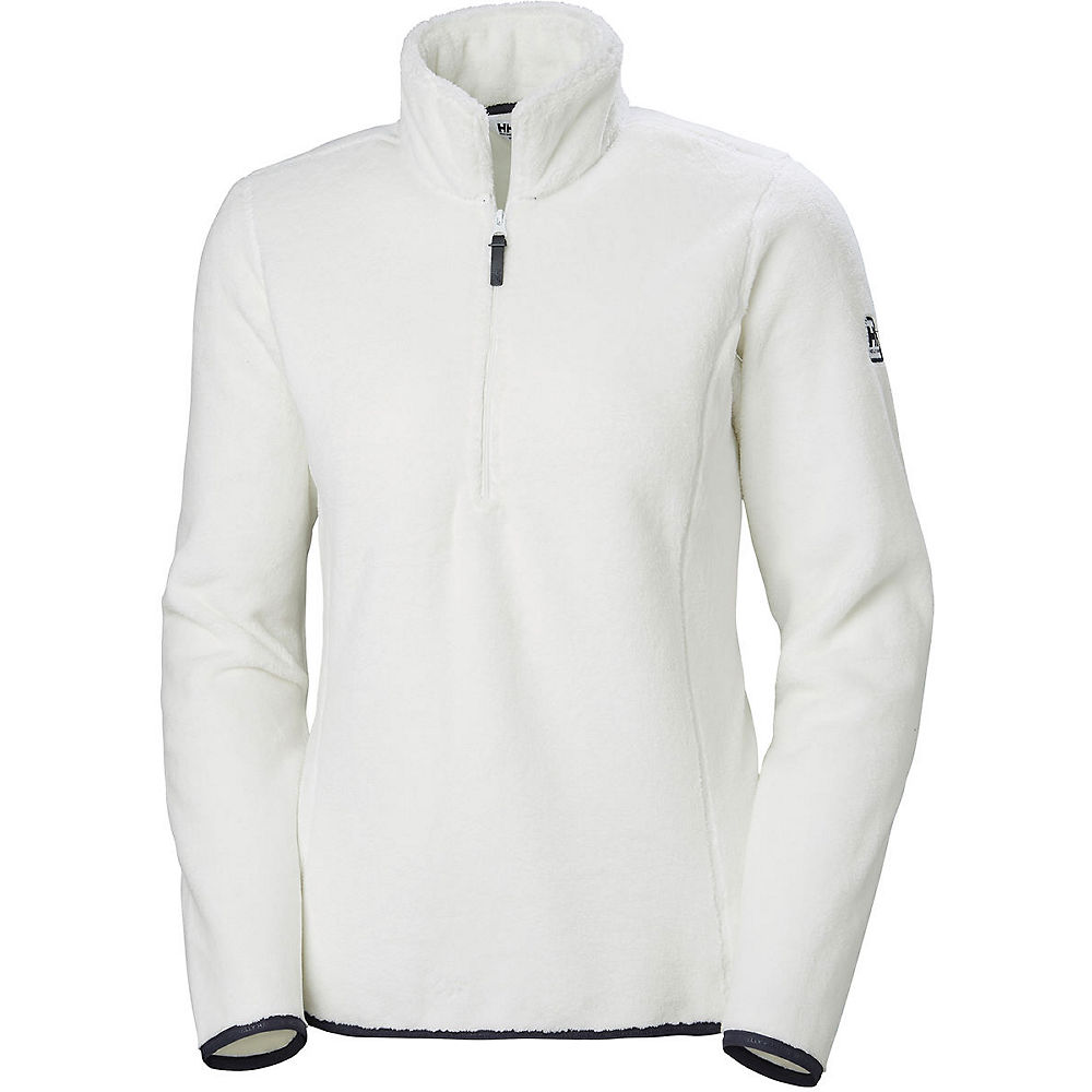 helly hansen women's feather pile 3-4 zip  - off white
