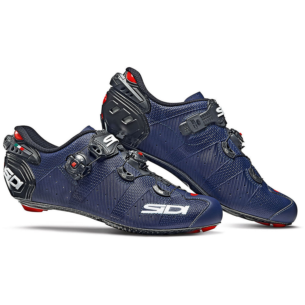 Sidi Wire 2 Carbon Matt Road Shoes 2019 - Matt Blue-Black - EU 42.5, Matt Blue-Black