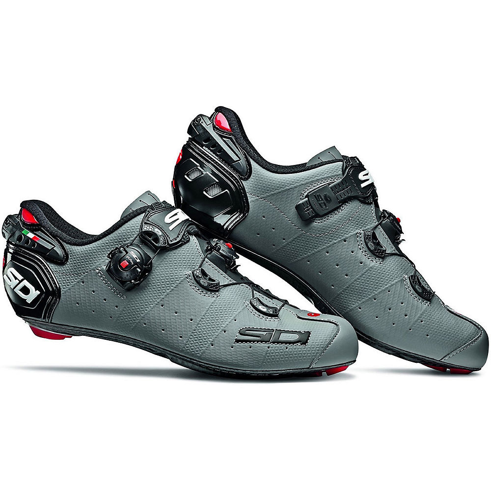 Sidi Wire 2 Carbon Matt Road Shoes 2019 - Matt Grey-Black - EU 43.5, Matt Grey-Black