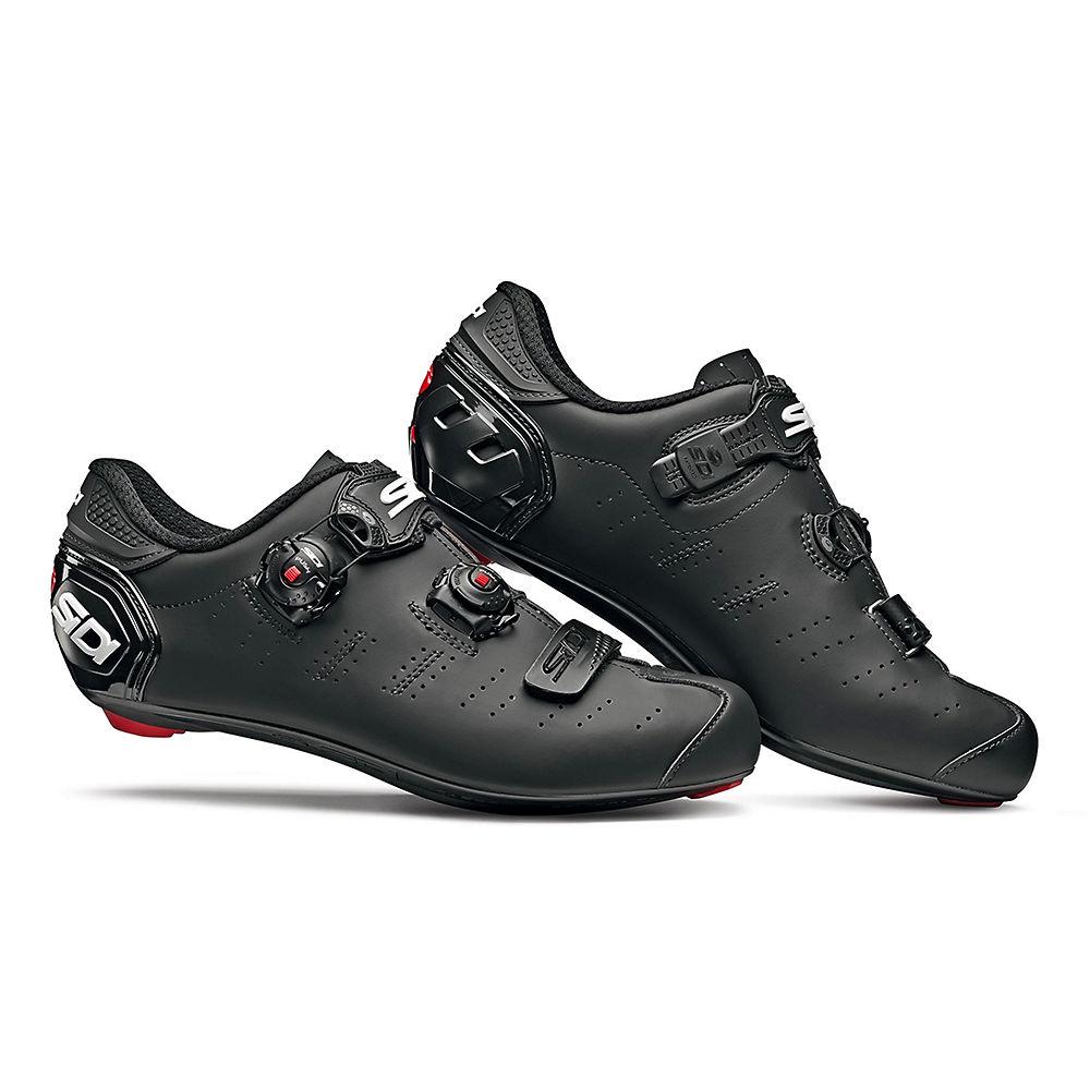 Sidi Ergo 5 Mega Matt Road Shoes (wide Fit) 2019 - Matt Black - Eu 48  Matt Black
