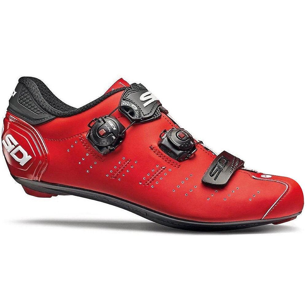 Sidi Ergo 5 Matt Road Shoes 2019 - Matt Red-black - Eu 45  Matt Red-black