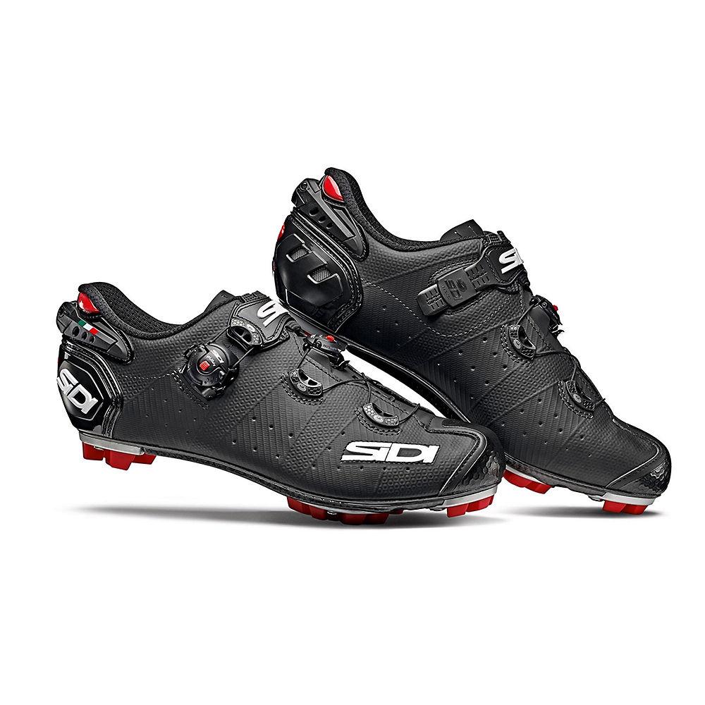 Sidi Drako 2 Srs Matt Mtb Shoes 2019 - Matt Black - Eu 43  Matt Black