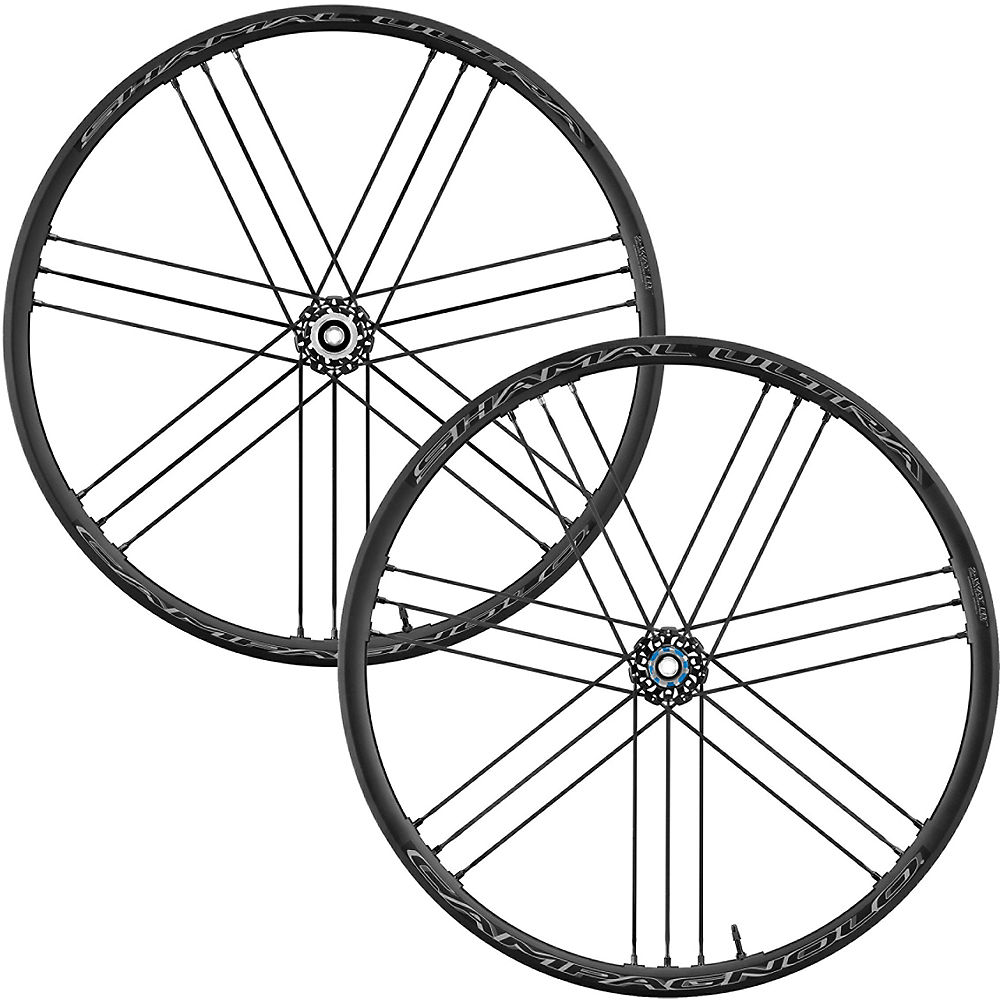 Campagnolo Shamal Ultra DB 2-Way Fit Road Wheelset - Dark Label - Shimano, Dark Label