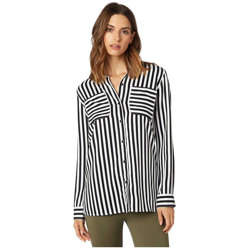 Fox Racing Jail Break LS Woven Shirt 2018 - Black-White, Black-White