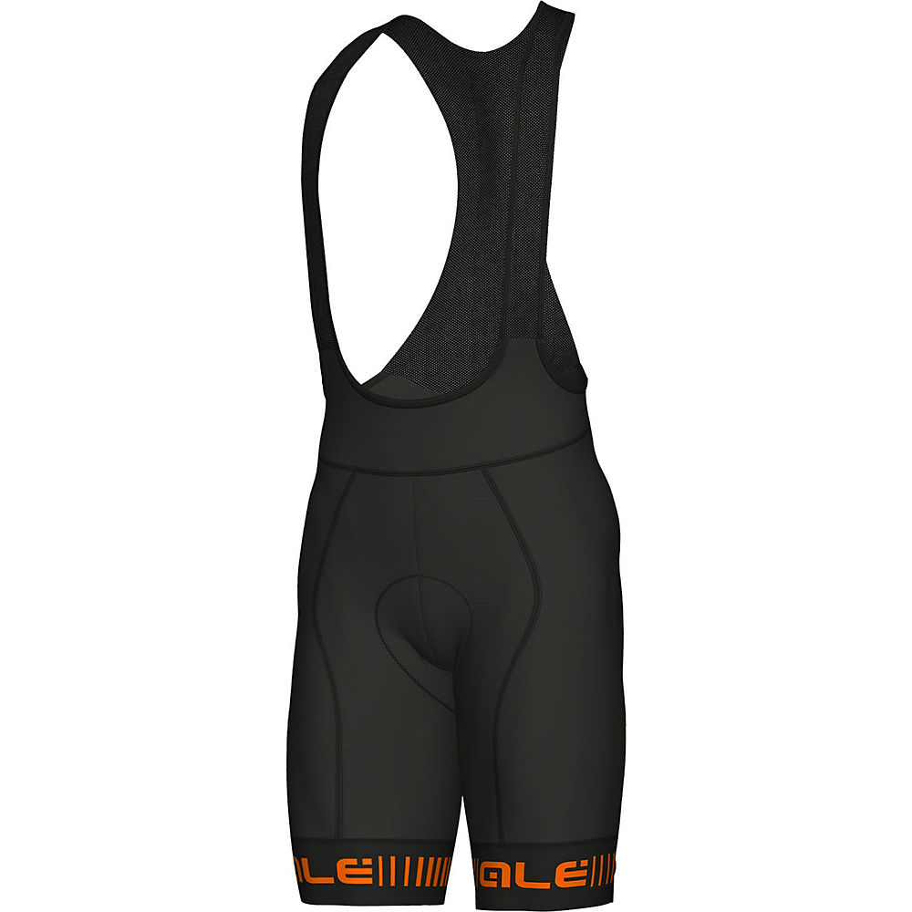 Alé Graphics PRR Strada Bib Shorts 2021 - Black-Orange - XXXL, Black-Orange