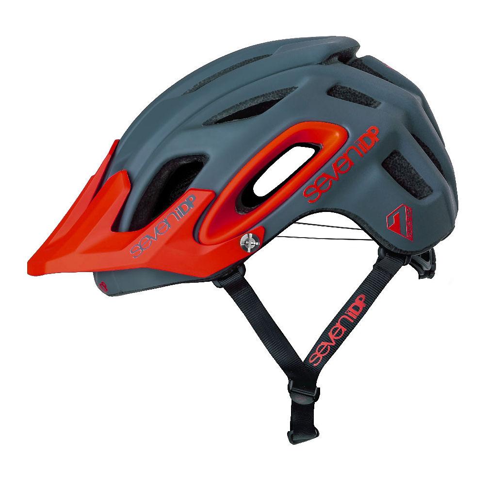 7 iDP M2 BOA Helmet 2019 - Matte Graphite-Thruster Red - M/L, Matte Graphite-Thruster Red