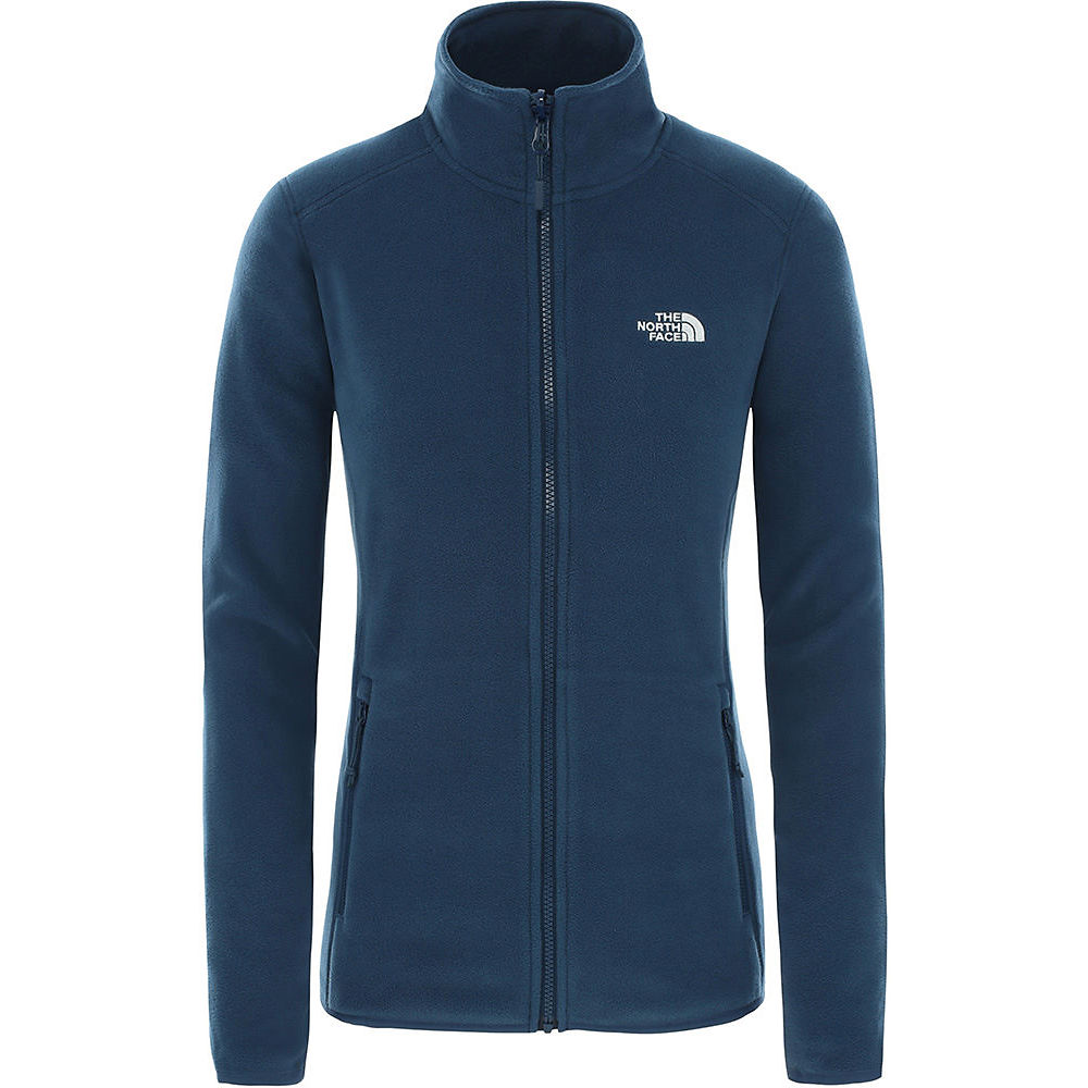 The North Face Womens 100 Glacier (full Zip) 2018 - Blue Wing Teal - Xl  Blue Wing Teal