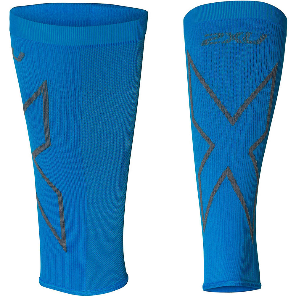2XU X Compression Calf Sleeves  - Vibrant Blue-Grey, Vibrant Blue-Grey