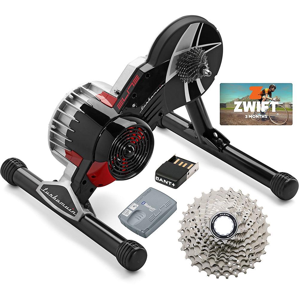 Elite Turbo Muin II Fluid Zwift Bundle Noir Chainreactioncycles